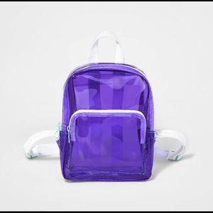 Purple clear mini backpack